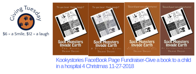Kookystories FaceBook Page Fundraiser-Give a book to a child in a hospital 4 Christmas 11-27-2018